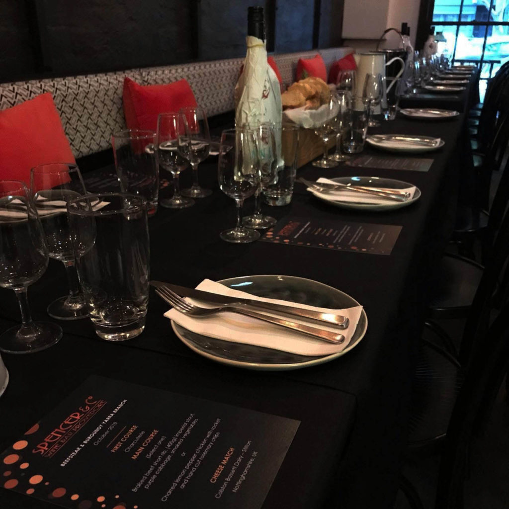 Private Function Spencer and Co Set Menu