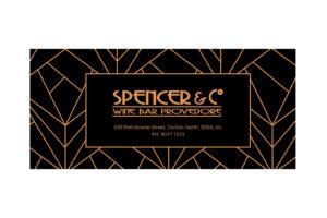 Spencer Co Wine Bar Gift Voucher